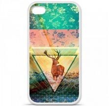 Coque en silicone Apple iPhone 4 / 4S - Cerf swag