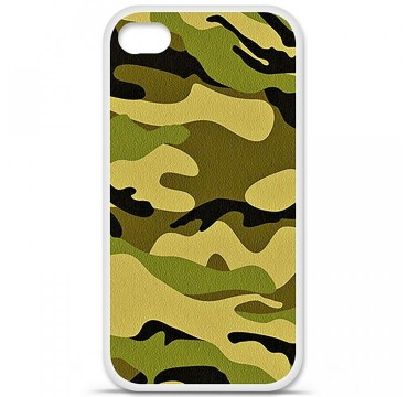 Coque en silicone Apple iPhone 4 / 4S - Camouflage