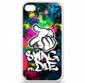 Coque en silicone Apple iPhone 4 / 4S - Swag or die