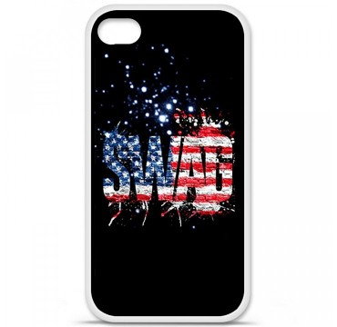 Coque en silicone Apple iPhone 4 / 4S - Swag usa