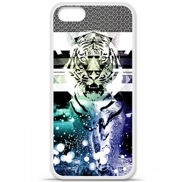 Coque en silicone Apple iPhone 5 / 5S - Tigre swag