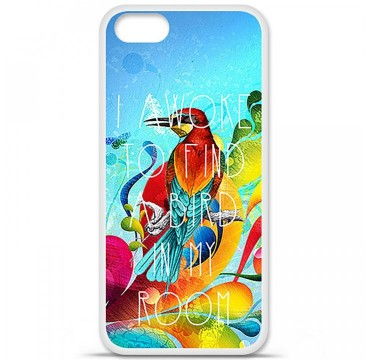 Coque en silicone Apple iPhone 5 / 5S - Mocking bird