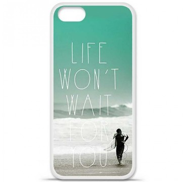 Coque en silicone Apple iPhone 5 / 5S - Surfer
