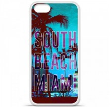 Coque en silicone Apple iPhone 5 / 5S - South beach miami