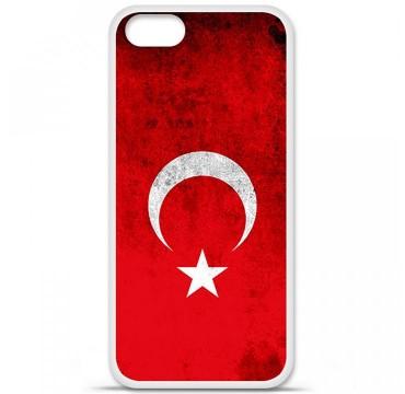 Coque en silicone Apple iPhone 5 / 5S - Drapeau Turquie
