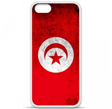 Coque en silicone Apple iPhone 5 / 5S - Drapeau Tunisie