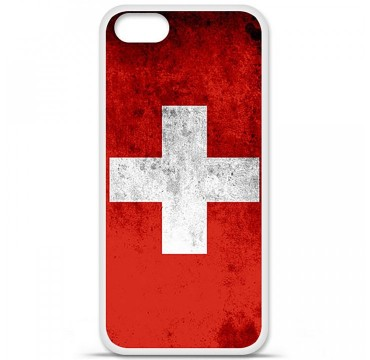 Coque en silicone Apple iPhone 5 / 5S - Drapeau Suisse