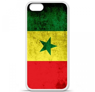 Coque en silicone Apple iPhone 5 / 5S - Drapeau Sénégal