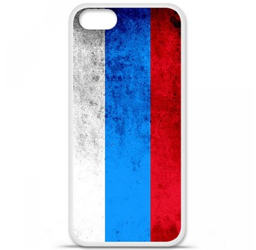 Coque en silicone Apple iPhone 5 / 5S - Drapeau Russie