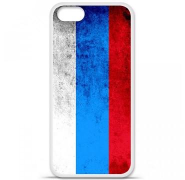 Coque en silicone pour Apple iPhone 5 / 5S - Drapeau Russie