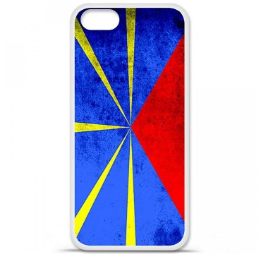 Coque en silicone Apple iPhone 5 / 5S - Drapeau La Réunion
