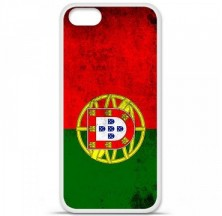 Coque en silicone Apple iPhone 5 / 5S - Drapeau Portugal