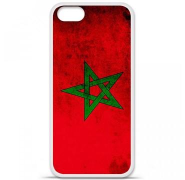 Coque en silicone Apple iPhone 5 / 5S - Drapeau Maroc