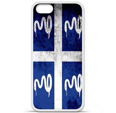 Coque en silicone Apple iPhone 5 / 5S - Drapeau Martinique