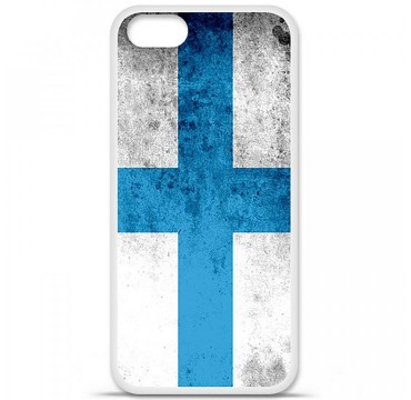 Coque en silicone Apple iPhone 5 / 5S - Drapeau Marseille