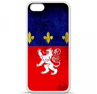 Coque en silicone Apple iPhone 5 / 5S - Drapeau Lyon