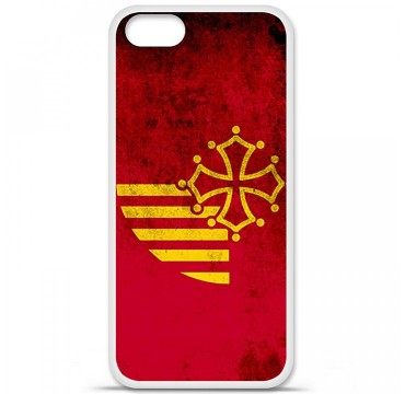 Coque en silicone Apple iPhone 5 / 5S - Drapeau Languedoc