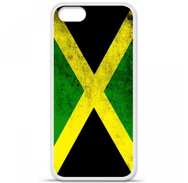 Coque en silicone Apple iPhone 5 / 5S - Drapeau Jamaïque