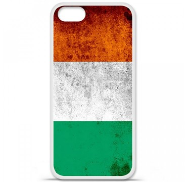 Coque en silicone Apple iPhone 5 / 5S - Drapeau Côte-d'ivoire