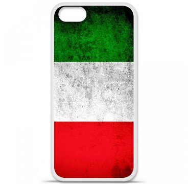 Coque en silicone Apple iPhone 5 / 5S - Drapeau Italie