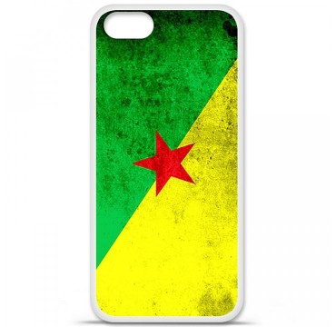Coque en silicone Apple iPhone 5 / 5S - Drapeau Guyane