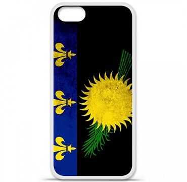 Coque en silicone Apple iPhone 5 / 5S - Drapeau Guadeloupe
