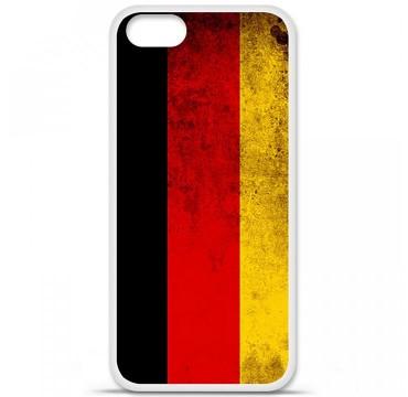 Coque en silicone Apple iPhone 5 / 5S - Drapeau Allemagne