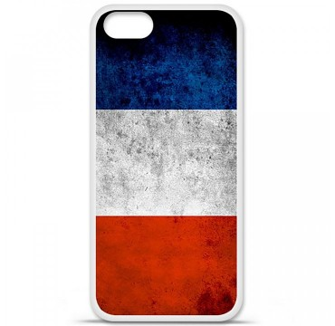 Coque en silicone Apple iPhone 5 / 5S - Drapeau France