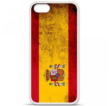 Coque en silicone Apple iPhone 5 / 5S - Drapeau Espagne