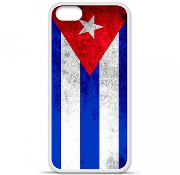 Coque en silicone Apple iPhone 5 / 5S - Drapeau Cuba