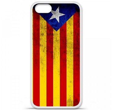 Coque en silicone Apple iPhone 5 / 5S - Drapeau Catalogne