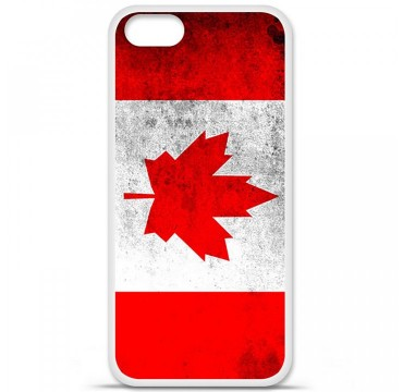 Coque en silicone Apple iPhone 5 / 5S - Drapeau Canada