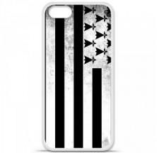 Coque en silicone Apple iPhone 5 / 5S - Drapeau Bretagne