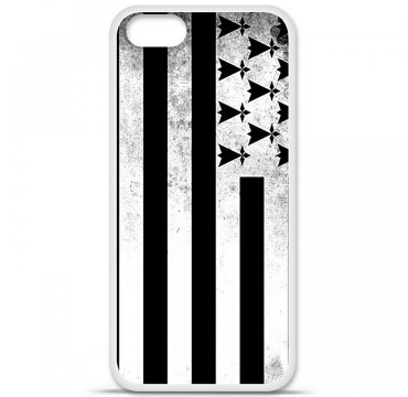 Coque en silicone pour Apple iPhone 5 / 5S - Drapeau Bretagne