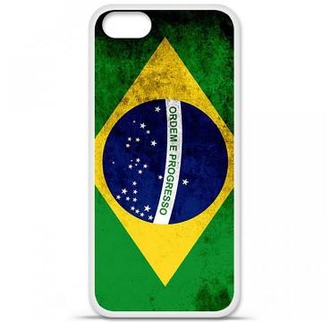 Coque en silicone Apple iPhone 5 / 5S - Drapeau Brésil