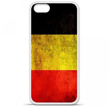 Coque en silicone Apple iPhone 5 / 5S - Drapeau Belgique