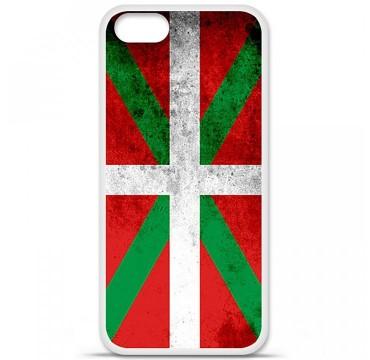 Coque en silicone pour Apple iPhone 5 / 5S - Drapeau Basque
