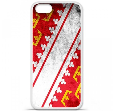 Coque en silicone Apple iPhone 5 / 5S - Drapeau Alsace
