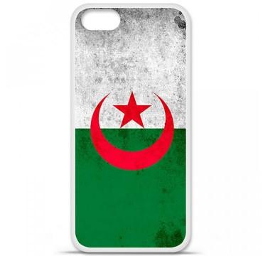 Coque en silicone Apple iPhone 5 / 5S - Drapeau Algérie