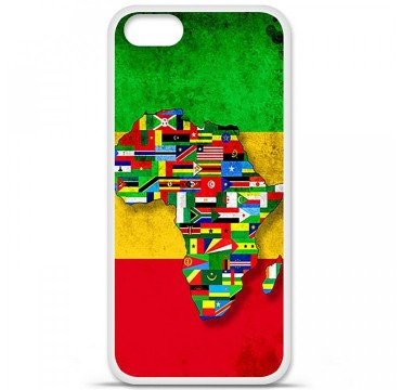 Coque en silicone Apple iPhone 5 / 5S - Drapeau Africa Unite