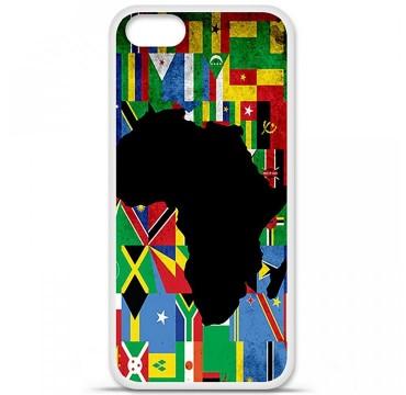 Coque en silicone Apple iPhone 5 / 5S - Drapeau Afrique
