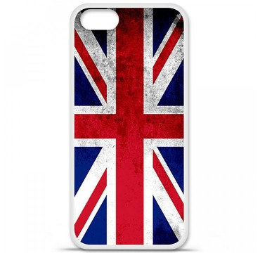 Coque en silicone Apple iPhone 5 / 5S - Drapeau Angleterre