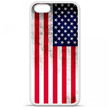 Coque en silicone Apple iPhone 5 / 5S - Drapeau USA