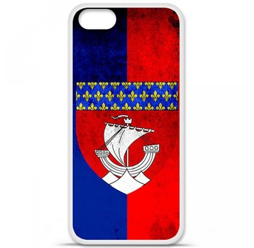 Coque en silicone Apple iPhone 5 / 5S - Drapeau Paris