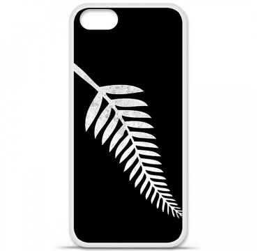 Coque en silicone Apple iPhone 5 / 5S - Drapeau All-black