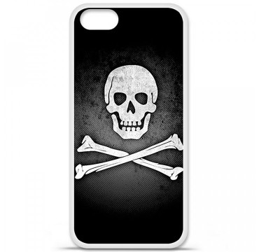 Coque en silicone Apple iPhone 5 / 5S - Drapeau Pirate
