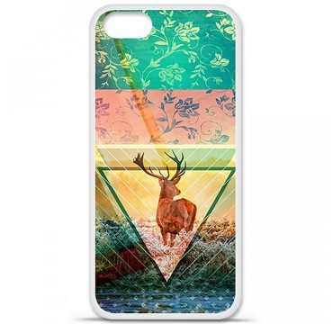 Coque en silicone Apple iPhone 5 / 5S - Cerf swag