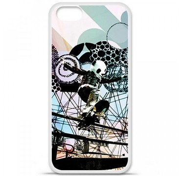 Coque en silicone Apple iPhone 5 / 5S - Panda skater