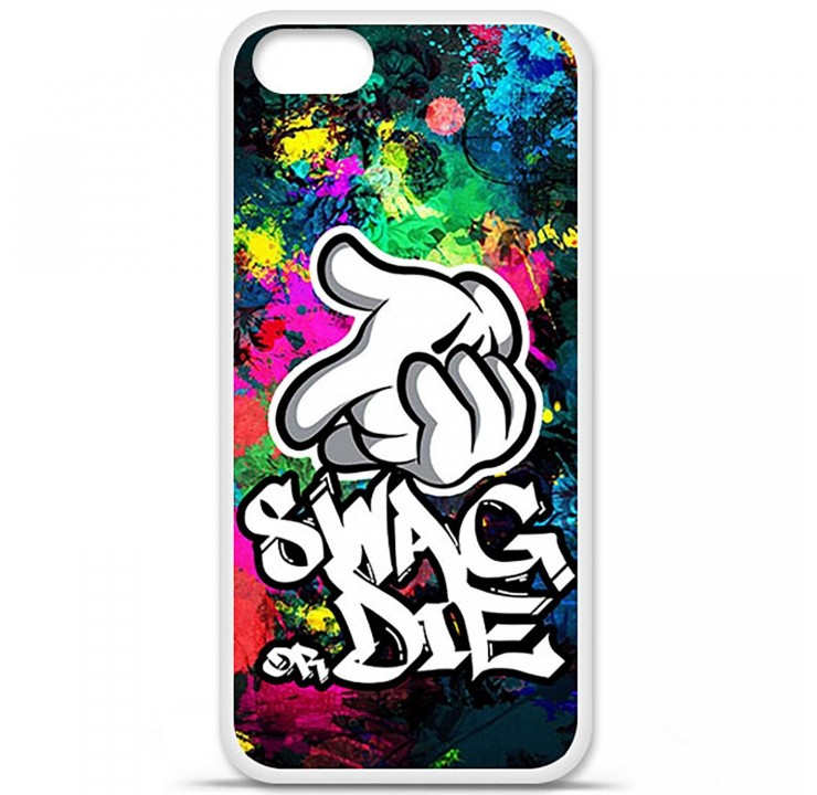 coque silicone iphone 5 5s swag or die