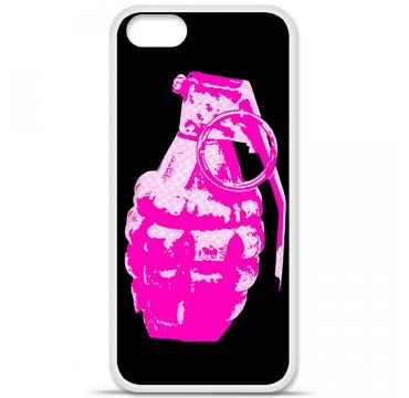 Coque en silicone Apple iPhone 5 / 5S - Grenade rose